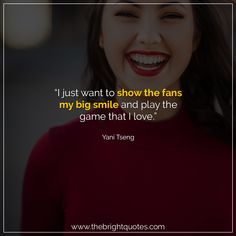"""""""I just want to show the fans my big smile and play the game that I love."""" #smile #instagram #pinterest #quotes #quotesforher #smiling #goodmood #mood #insta #inspiration #keepsmiling #quotesoftheday #quoteoftheday #qotd #thebrightquotes #funny #boyfriend #girlfriend #captions"""