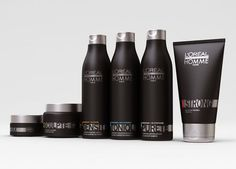 The Men's Homme hair care line. Shampoo, styling gel and various styling pastes. #menshair #hair