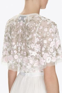 Exclusive collections and styles. Shop Needle & Thread dresses, gowns, tops and skirts with next day delivery. Needle And Thread Dresses, Bridal Cover Up, Bridal Blouse Designs, Cecile, Altering Clothes, Cape Dress, Pakistani Outfits, Bridal Dresses, Beaded Dresses