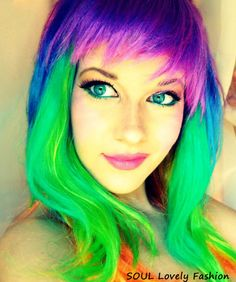 Funky Hair Colors (which were 1980s Trends) is back as a Trend for Spring-Summer 2012.