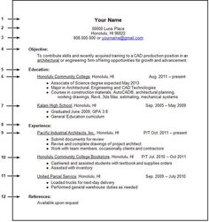 resume example work experience resume templates first job resume template first job entry level - Job Resume Formats