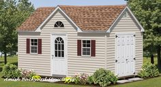 Looking for more than a storage shed? The Victorian Cottage can be used as an office for home or business, or for storage with class.