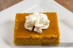 Pumpkin Pie Bars - Simple Food 365