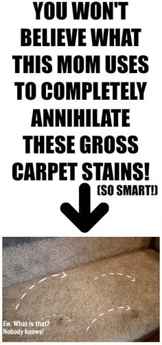 If you have stubborn carpet stains that just won't come out no matter what you try, this simple DIY trick may be just the thing thing you need! Make sure you try this first before you call in the professionals or spend money on one of those carpet cleaning gizmos!