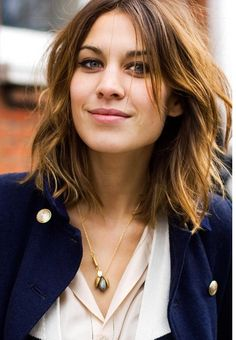 Banging Messy Bob: With just a few wisps that frame her face, Alexa Chung has bangs without making a big deal about it.