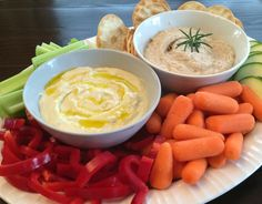 Rosemary White Bean Dip and super simple Feta & Lemon Dip. They're delicious, can easily be doubled and the leftovers makes great sandwich spreads.