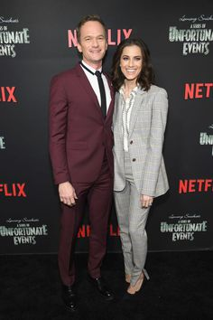 """Neil Patrick Harris and Allison Williams attend the Netflix Premiere of """"A Series of Unfortunate Events"""" Season 2 Baudelaire Children, Les Orphelins Baudelaire, Netflix Original Series, Netflix Series, A Series Of Unfortunate Events Netflix, Movies Showing, Movies And Tv Shows, Count Olaf, Kit Snicket"""