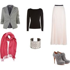 Pink Hijab Day Look by thescottishhijabee on Polyvore featuring Coast, WalG, Enza Costa, Gucci and PASHMINA ART