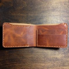 Horween Leather Billfold in Veg-tanned Chestnut by KochLeather