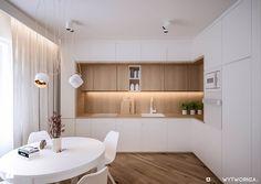 Aranżacje wnętrz - Kuchnia: Mieszkanie w Dąbrowie Górniczej - ARCHIWYTWÓRNIA Tomek Pytel. Przeglądaj, dodawaj i zapisuj najlepsze zdjęcia, pomysły i inspiracje designerskie. W bazie mamy już prawie milion fotografii!