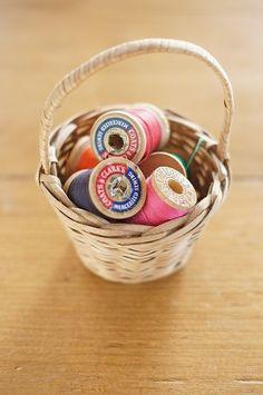 Pannier Basket アメリカアンティーク糸巻きスプールバスケット インテリア 雑貨 家具 Antique ¥1900yen 〆05月26日