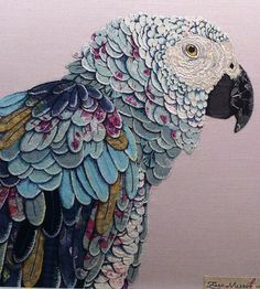 Textile Art 90142430026222433 - Textile works by Zara Merrick. Textile Fiber Art, Textile Artists, Fabric Birds, Fabric Art, Vogel Quilt, Art Du Fil, Bird Quilt, Creative Textiles, Animal Quilts