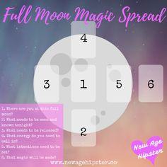 I made a full moon releasing spread aaaages ago and I thought it could be time to make a new one! :D The spread is ideally used in conjunction with the powerful energy of the full moon! But, you know, you can really do it anytime, especially if you're wanting to clear, release and set inten