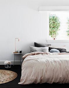 own your morning // interior // bedroom // home decor // wall art // city suite // urban loft // man cave // urban life // city living // Cosy Bedroom, Dream Bedroom, Home Decor Bedroom, Bedroom Ideas, Master Bedroom, Bedroom Neutral, White Bedroom, Scandinavian Bedroom, Modern Bedroom
