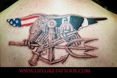 Back Tattoo   NAVY   Navy seal tattoos, Seal tattoo, Navy ...