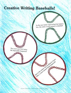 Here are some creative writing baseballs! Print them out and randomly distribute them for a colorful and sporty writing prompt. Printable Art, Printables, Creative Writing, Statue Of Liberty, Activities, Prompt, Crafts, Sporty, Colorful