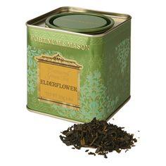 Fortnum and Mason: Green tea with fragrant Elderflower. A light flowery refreshing tea: 2.50£