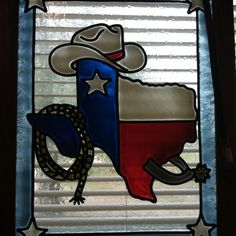 Texas. stained glass window.
