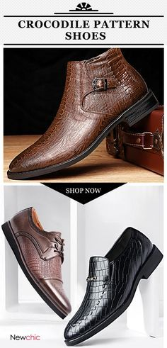 5edc8a9d278 Crocodile pattern shoes collection for every stylish or hard core man. Shop  Newchic.com · Mens Shoes BootsLeather BootsShoe ...