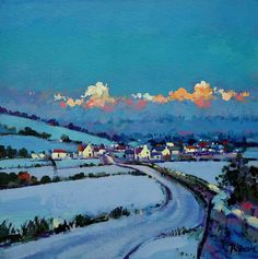 More Snow on the Way - Ken Roberts, acrylics on canvas.