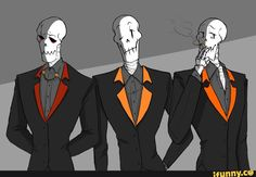 Papyrus | Underfell Undertale Underswap - Oh no, WHO HAD THE IDEA TO PUT PAP IN A SUIT!?!?! I'M NOT PREPARED FOR THIS!!! LASKDHFALUSIDHGFLDFJKGHD;FIGH