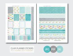 Free Monthly Printable Planner Stickers Set - Rainy Day - Erin Condren