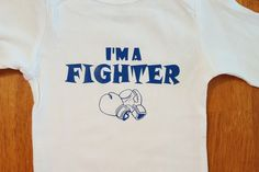 Cute I'm A Fighter Onesie by StickItOnMe on Etsy