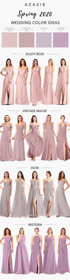 Azazie, a leading fashion online store offers bridesmaid gowns of diverse colors and themes. Find the perfect dresses to flatter everyone's taste and style for your big day. Wisteria Bridesmaid Dresses, Azazie Bridesmaid Dresses, Wedding Dresses, Bridesmaids, Wisteria Wedding, Dusty Rose Wedding, Online Fashion Stores, Maid Of Honor, Wedding Decoration