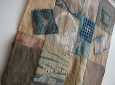i might be able to communicate through cloth making Shibori Fabric, Fabric Art, Fabric Crafts, Fabric Books, Textile Fiber Art, Textile Artists, History Of Textile, Embroidery Applique, Embroidery Ideas