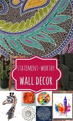Wall Decor Options That Make a Statement @Remodelaholic #spon #decorating #wallart