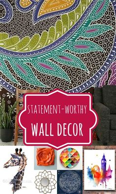 Wall Decor Options That Make a Statement @Remodelaholic #spon #decorating #wallart