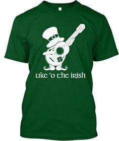 Uke O The Irish Ukulele T-Shirt from Love My Ukulele.Club. http://teespring.com/irish-ukulele