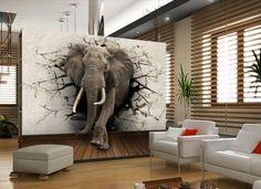 3d Wallpaper Elephant, Wall Art Wallpaper, Kids Room Wallpaper, Photo Wallpaper, Wildlife Wallpaper, 3d Wallpaper For Kitchen, Wallpaper Wallpapers, Deco Cool, Living Room Bedroom