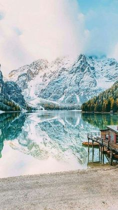 mountains, nature, and lake Bild