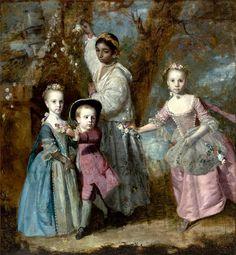 Sir Joshua Reynolds, Elisabeth, Sarah and Edward, Children of Edward Holden Cruttenden [with black nursemaid], c. 1763