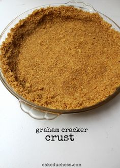Olive Oil Graham Cracker Crust by @Lora