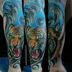 Tiger Tattoo  For info price and booking chat :  Email : kinktattoobalistudio@gmail.com Wa : +62 81337342734 Facebook pages : KINK TATTOO BALI