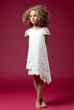I like the lace on this dress.  Not sure  how comfy the sleeves would be for kids.