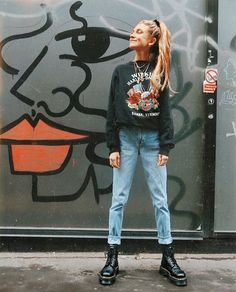 51 blue jeans ideas for mothers who look cool - women fashion - . - 51 blue jeans ideas for mothers who look cool – women fashion – - Grunge Outfits, Mode Outfits, Casual Outfits, Fashion Outfits, Fashion Boots, Casual Clothes, Swag Fashion, Fashion Ideas, Casual Boots