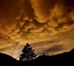 weird Natural Phenomenon Mammatus Cloud