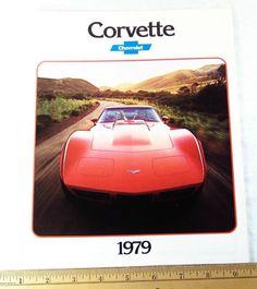 1979 Corvette factory sales brochure Impressive Fold-Out, Clean Original