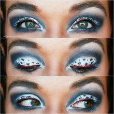 101 Dalmatians inspired makeup.