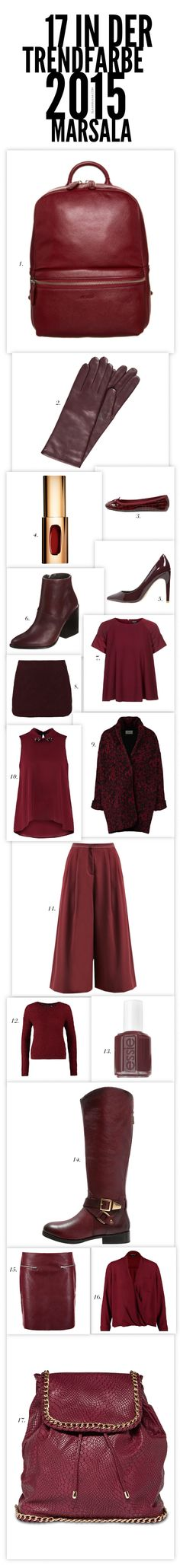 17 in der Trendfarbe 2015 Marsala | The House of Beccaria~