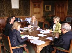 31 May Peace Palace The Hague - The preparations for the centennial on 28 August are in full swing! Picture of my meeting with the representatives from the Ministry of Foreign Affairs, The City of The Hague, and the Carnegie Foundation of this afternoon. The Hague, Ministry, Palace, Law, Foundation, Father, Politics, Activities, City