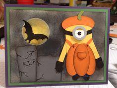 Minion.  (Pin#1: Halloween: Pumpkins.  Pin+: Halloween: Punch Art).