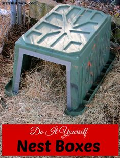 How to make nesting boxes for your chickens or ducks. Easy to make and the results are cleaner eggs.