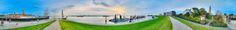nice Fotografie »Am Deich – Blick nach vorn«,  #Stadtansichten #XXL-Panoramen