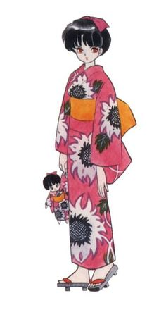 Rumiko Takahashi: Ranma 1/2's Akane Tendo in a yukata