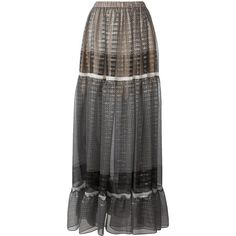 Stella McCartney Elsa skirt (90.890 RUB) ❤ liked on Polyvore featuring skirts, black, long striped skirt, ruched skirt, pleated skirt, striped pleated skirt and patterned skirts