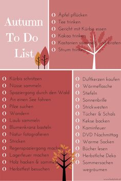 Autumn To-Do-List